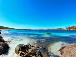 Boat retrieval at Lucky Bay