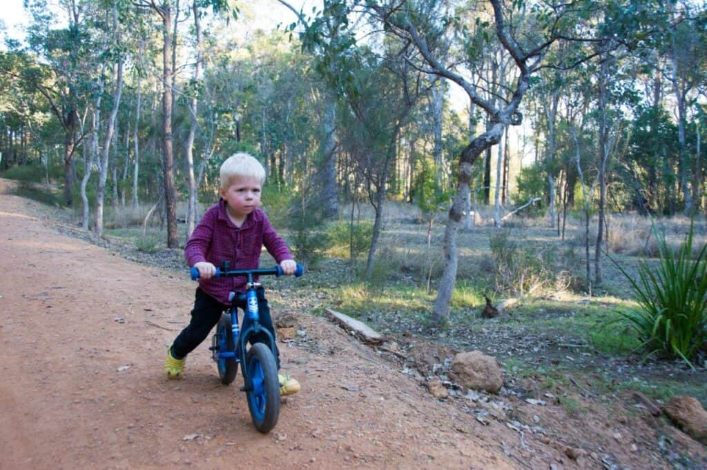 Ollie Riding His Balance Bike