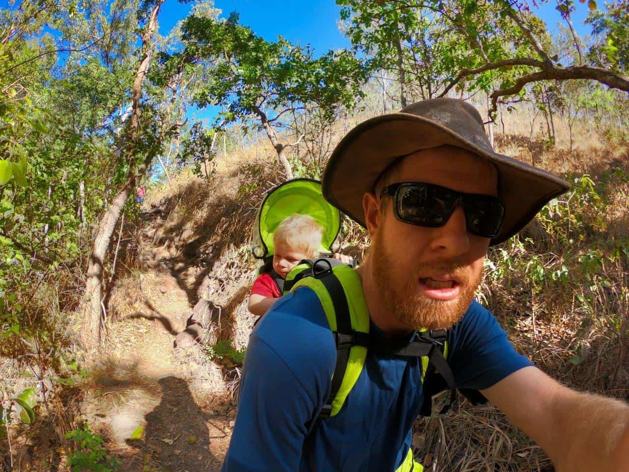 Taking Oliver hiking