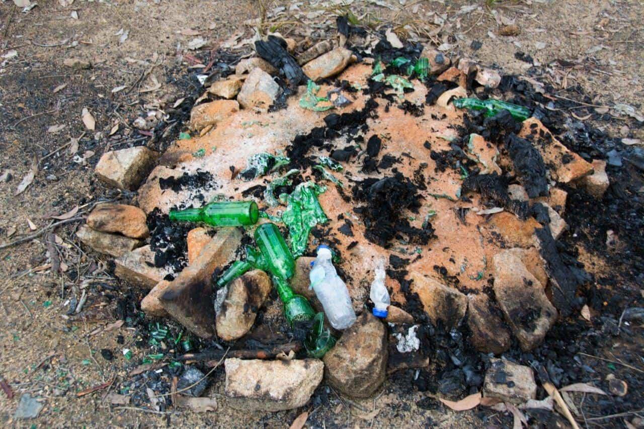Rubbish in the bush