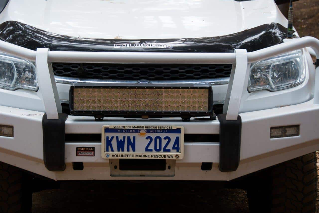 LED Light bar on a 4WD