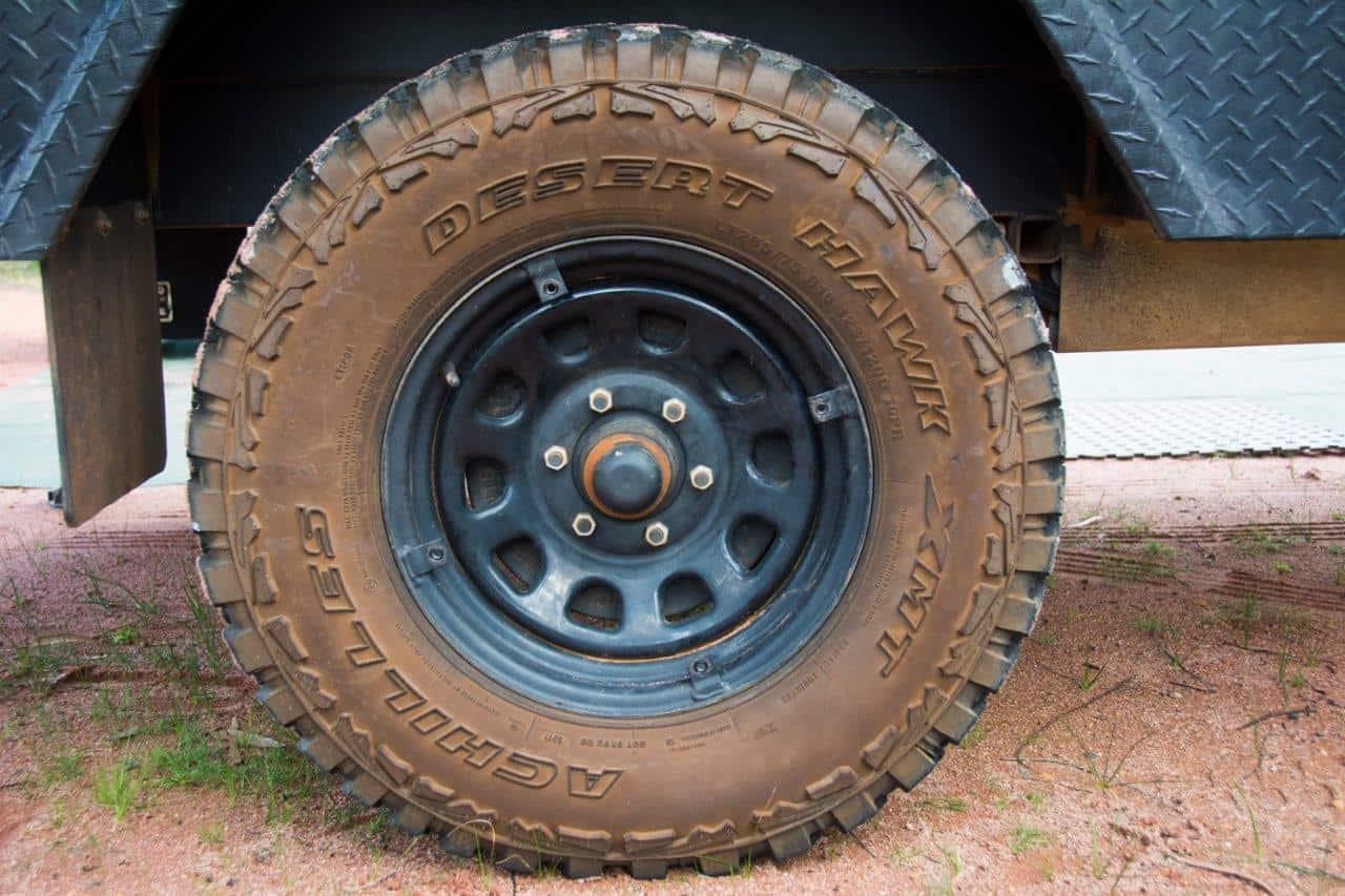 Camper trailer tyres
