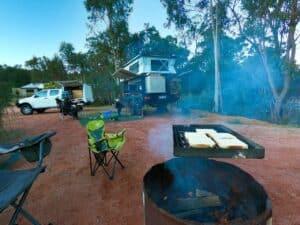 Dinner at camp