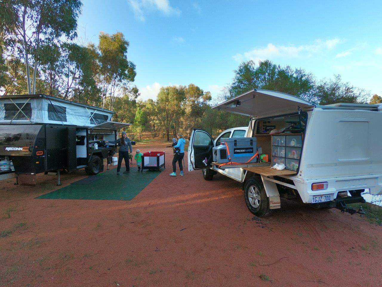 Our camp setup