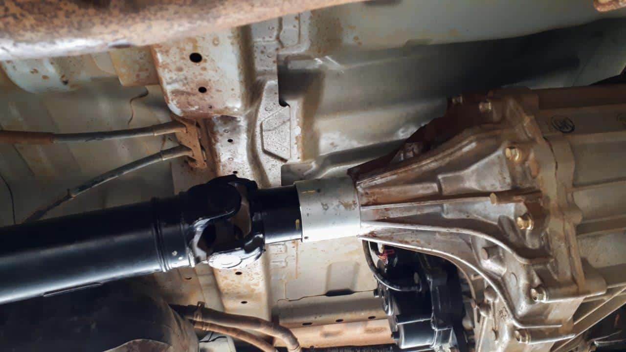 A leaking transfer case
