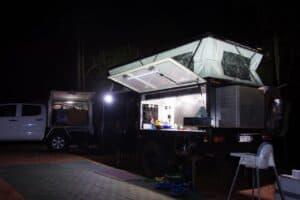 Camping in a hypercamper