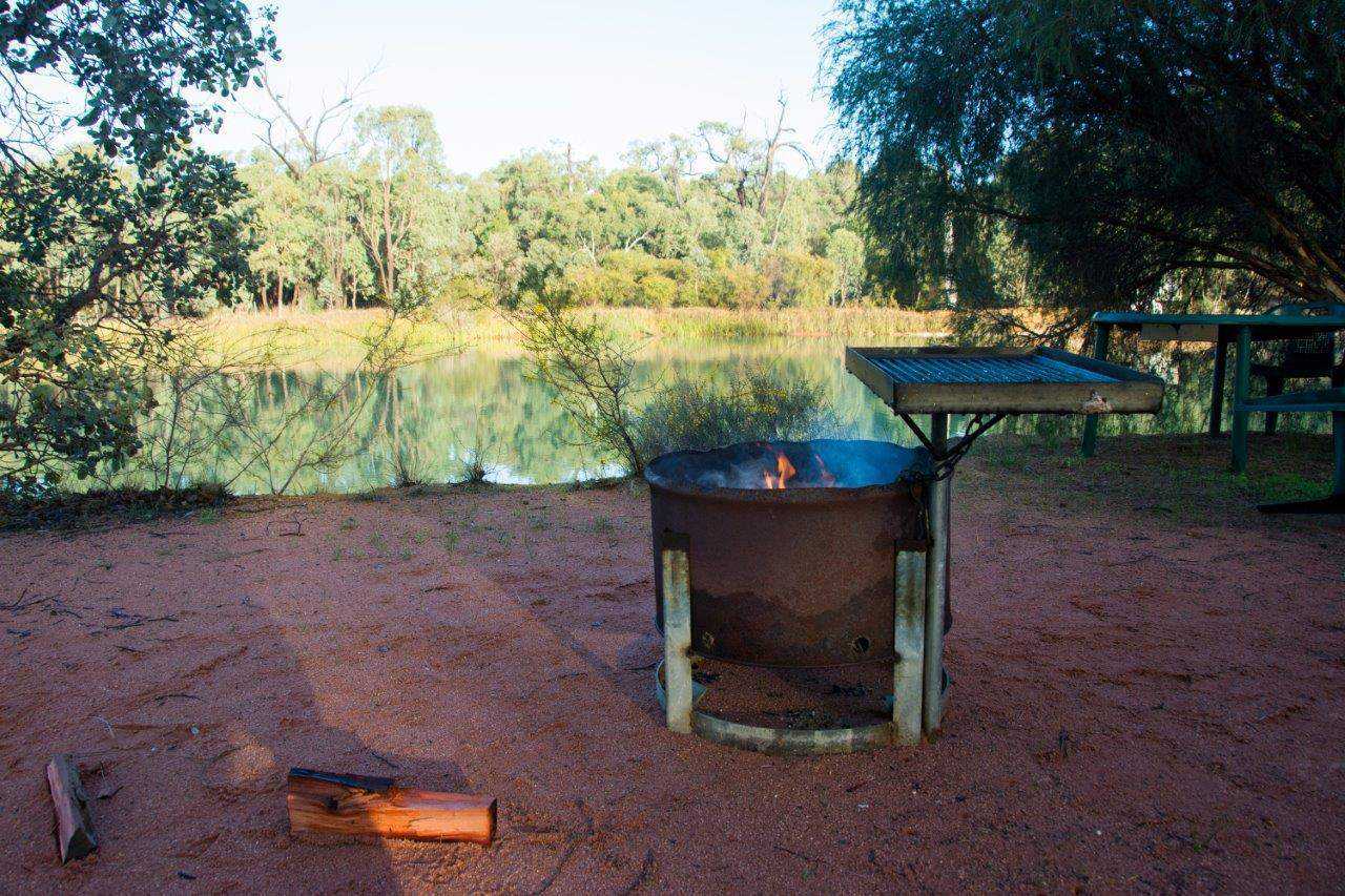 Camp fires in Perth