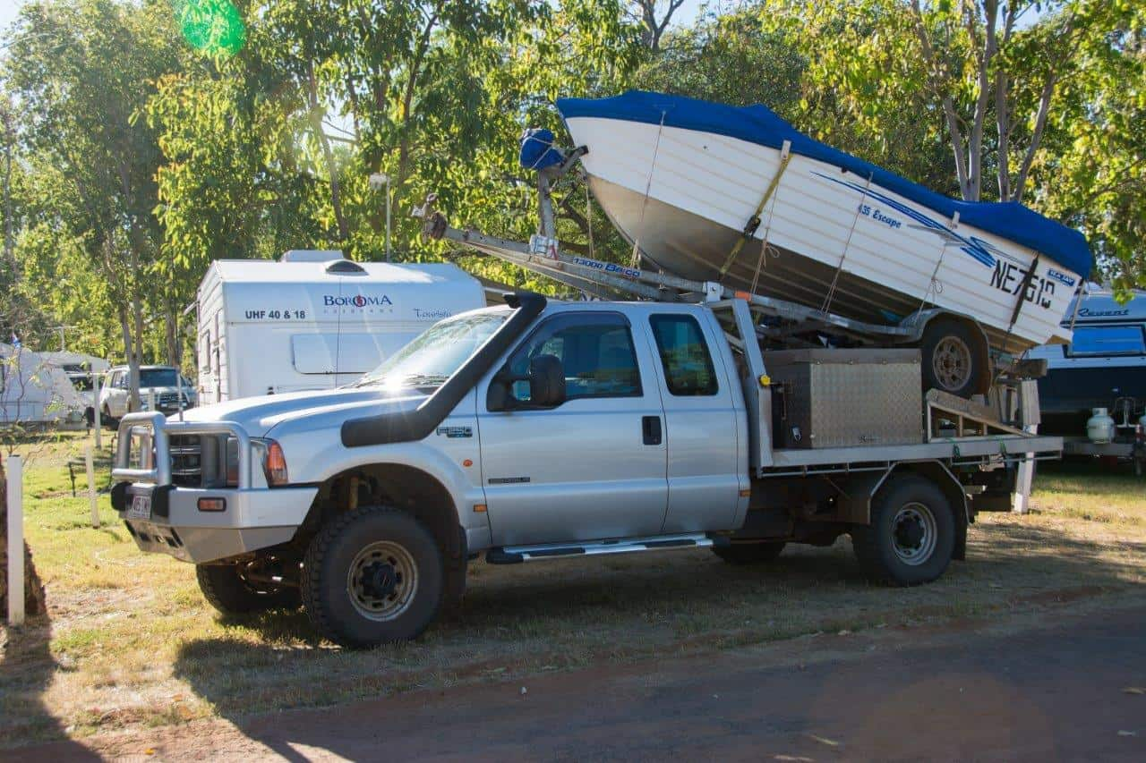 Boat trailer on the 4WD
