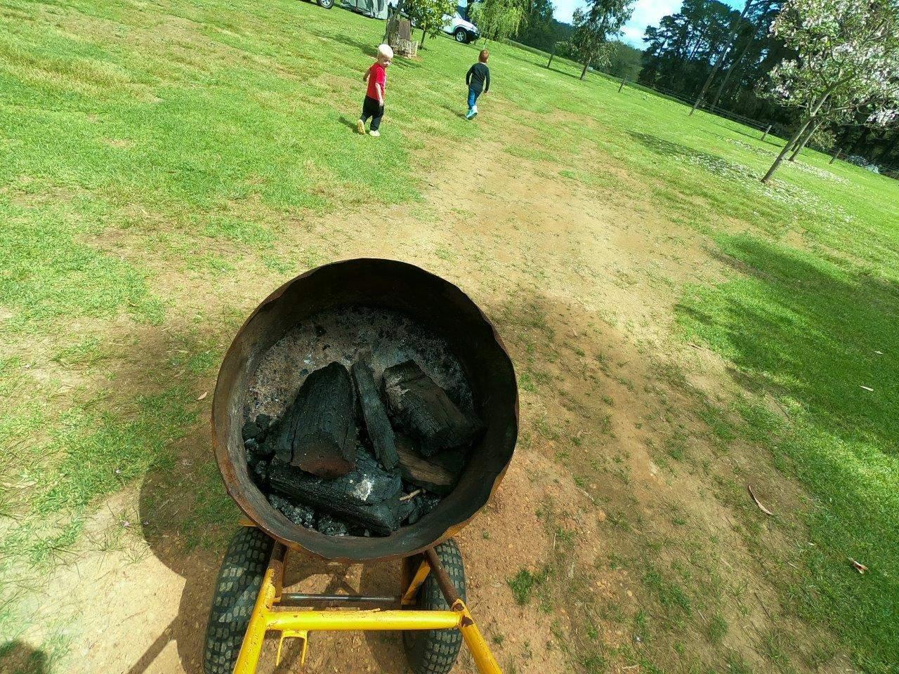 Fire pit at Fonty's