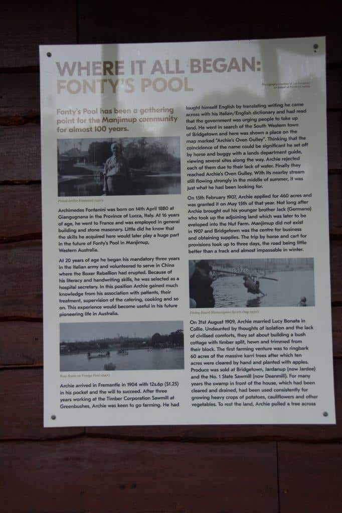 The history of Fonty's Pool