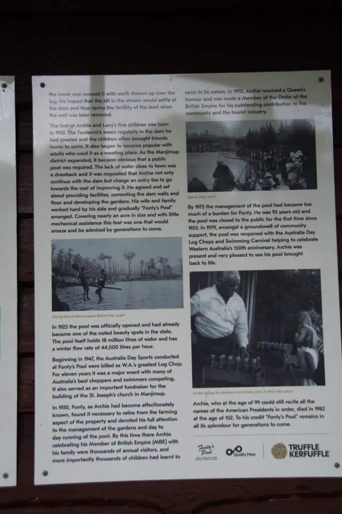 History of Fonty's Pool
