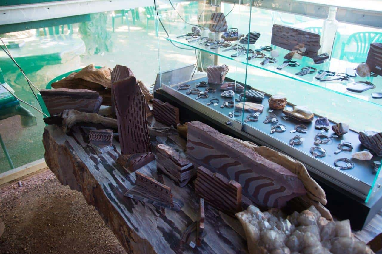 Zebra Rock Mine Display