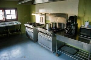 Camp kitchen at Willowbrook