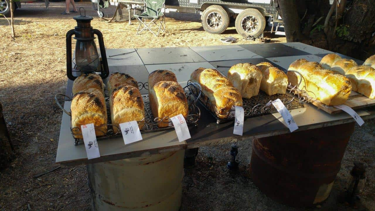 Fresh loaves at Mataranka