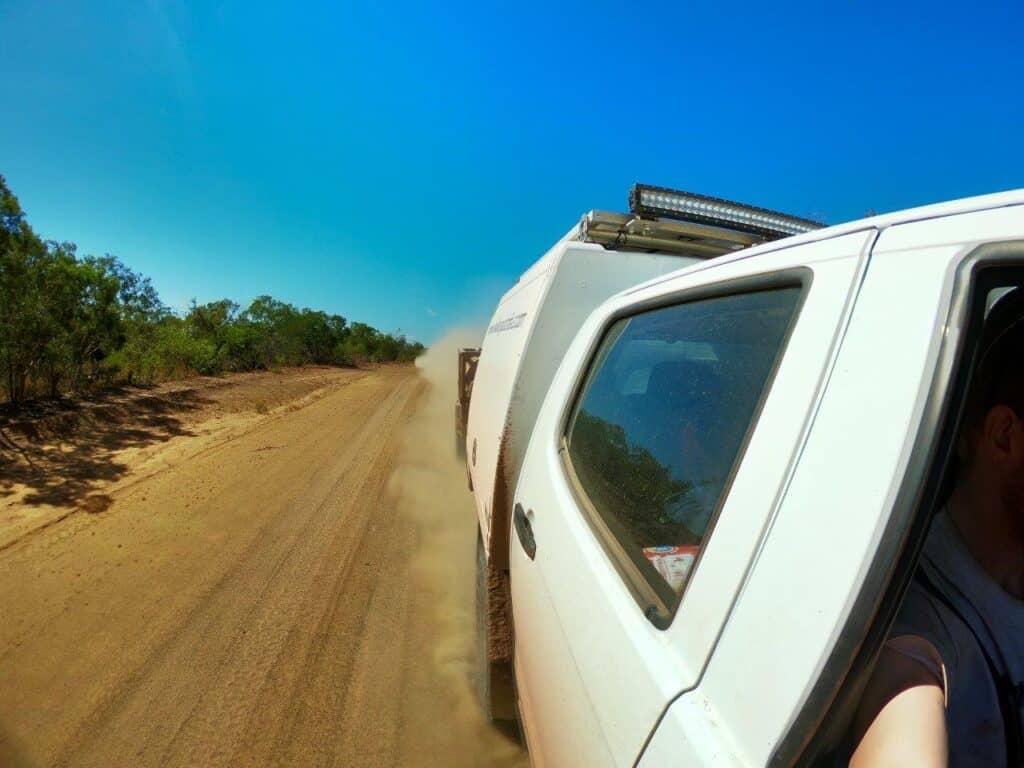 Gravel driving