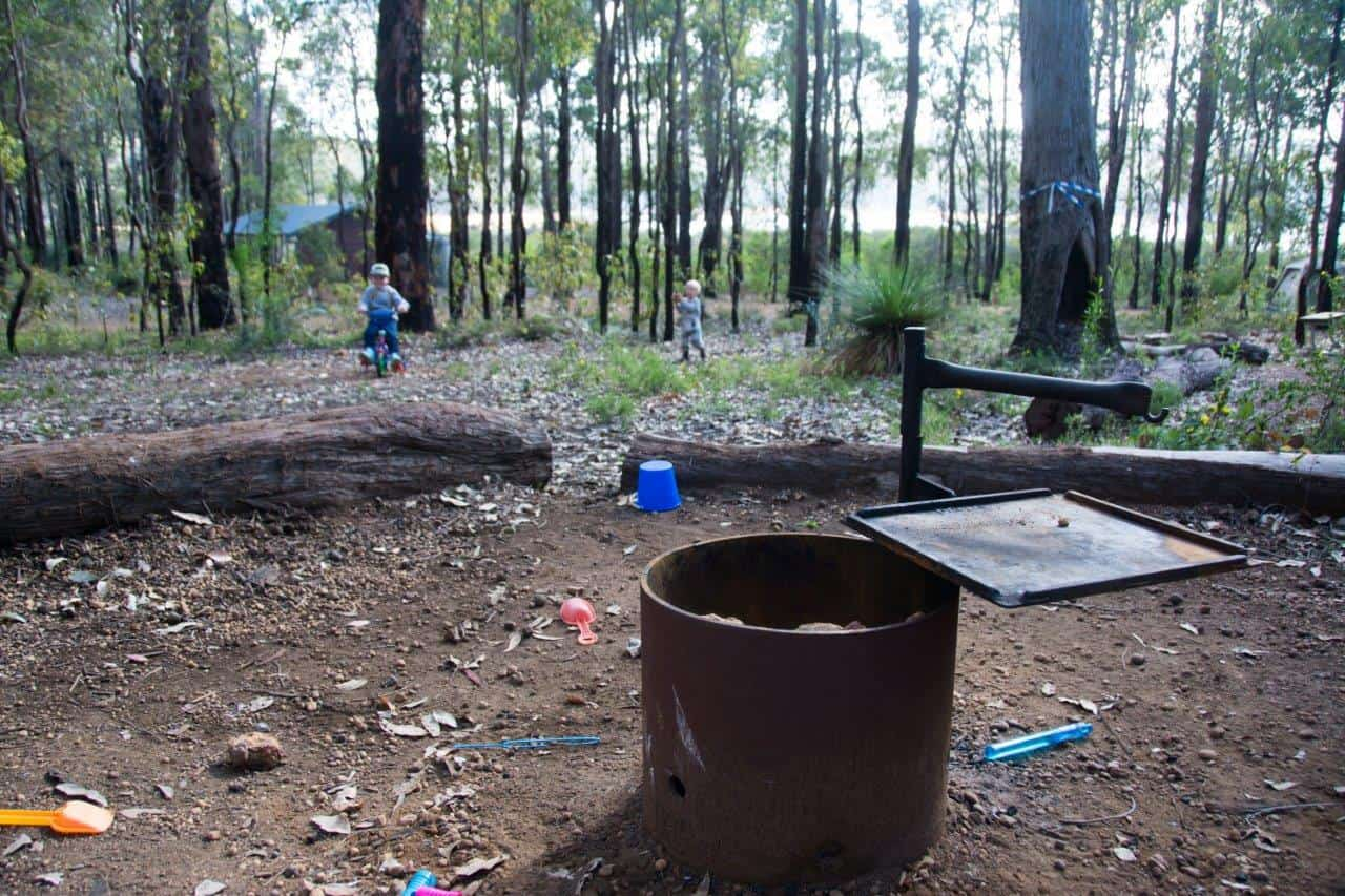 Camp fire at Potters Gorge
