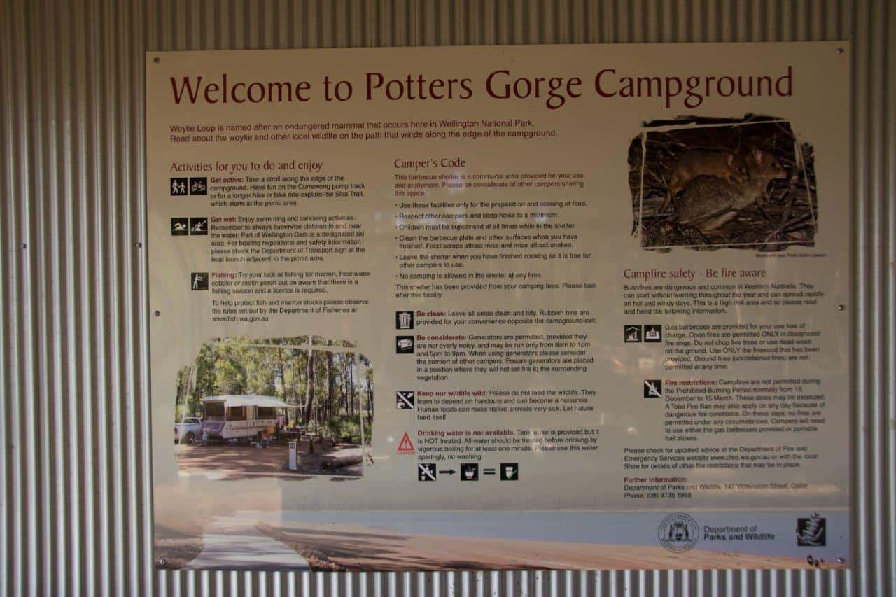Potters Gorge information