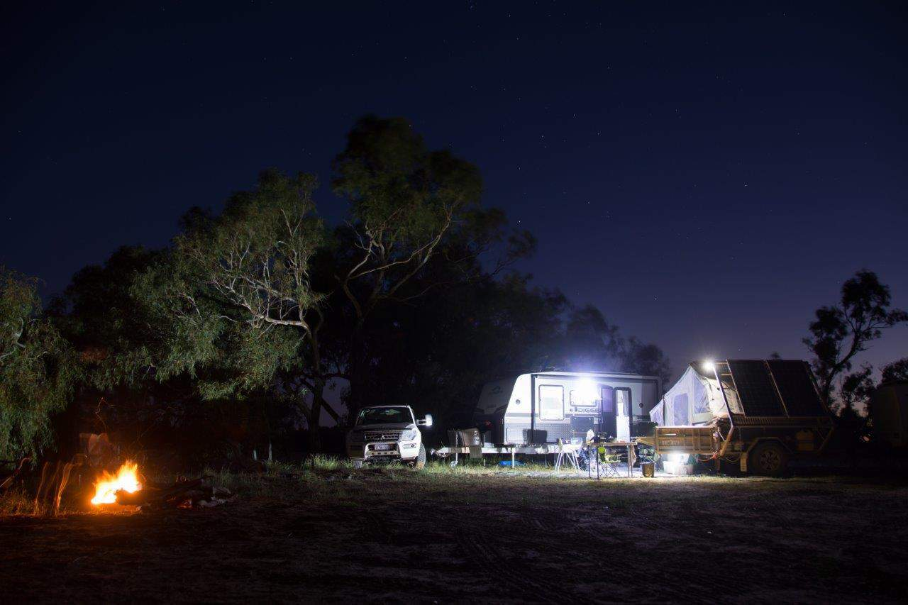 Camping at Wooramel Station