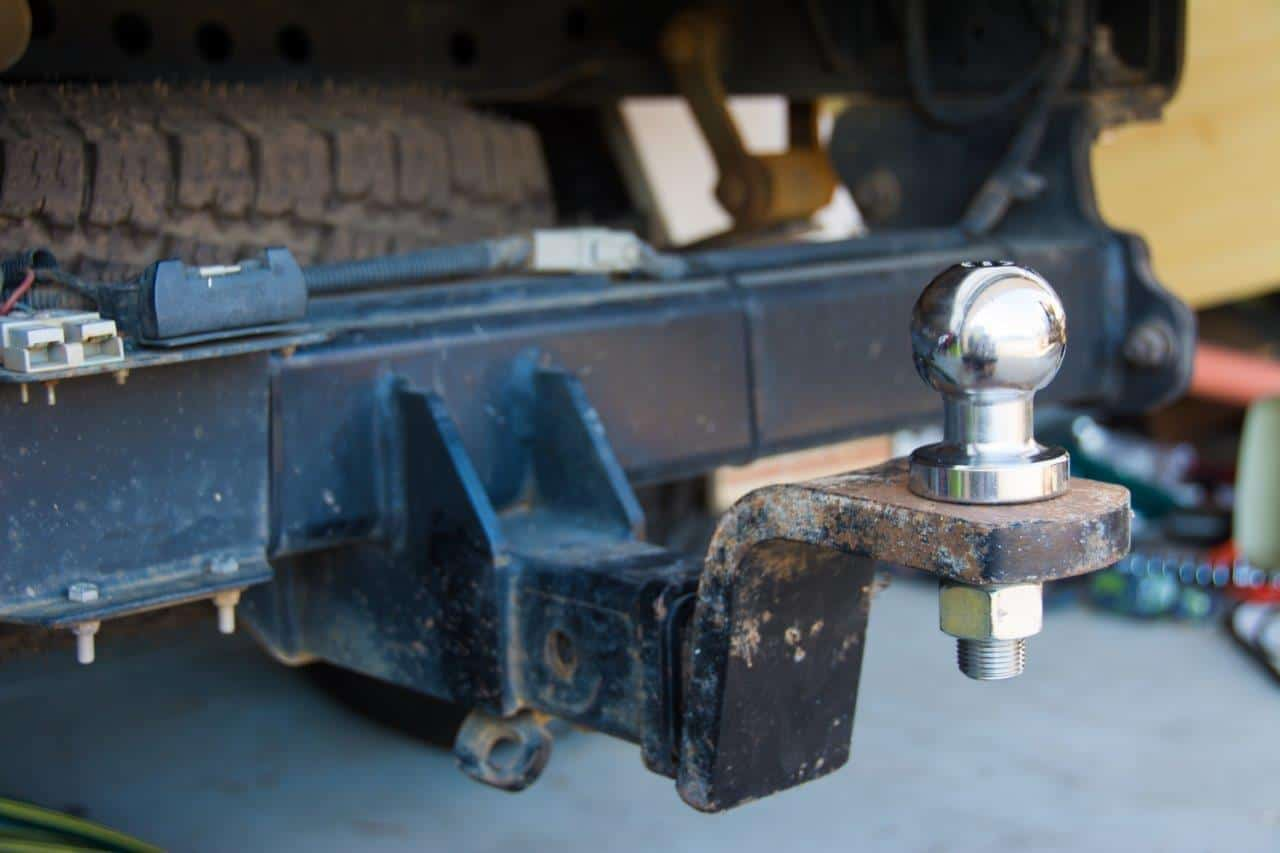 Tow hitch flipped