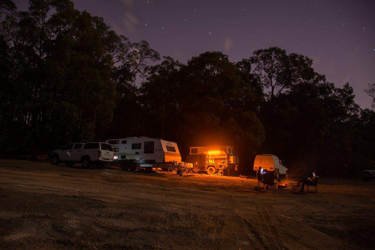 Quiet nights camping