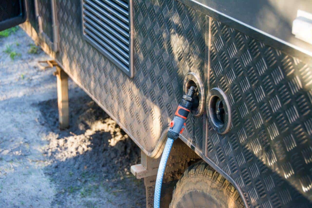 Caravan water tank filling