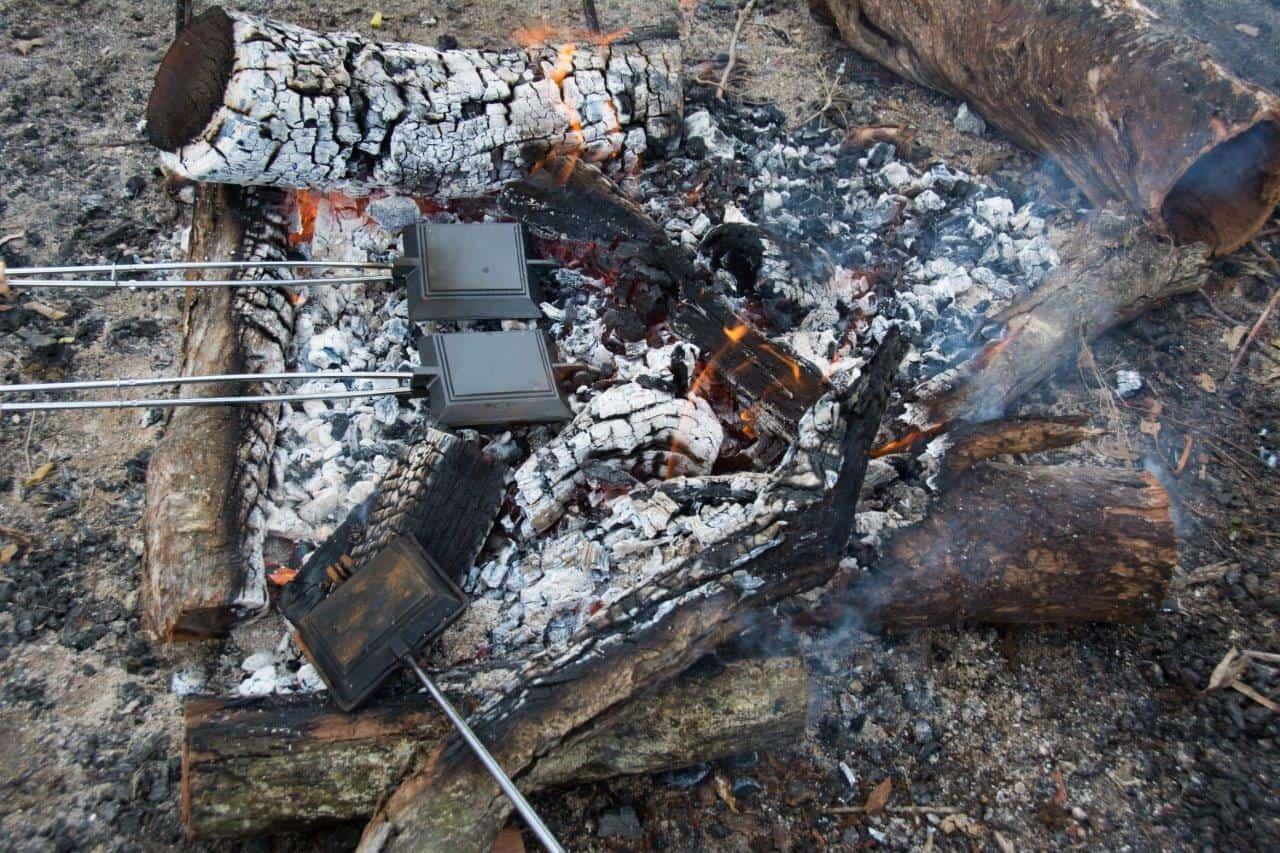 Toasties on the fire