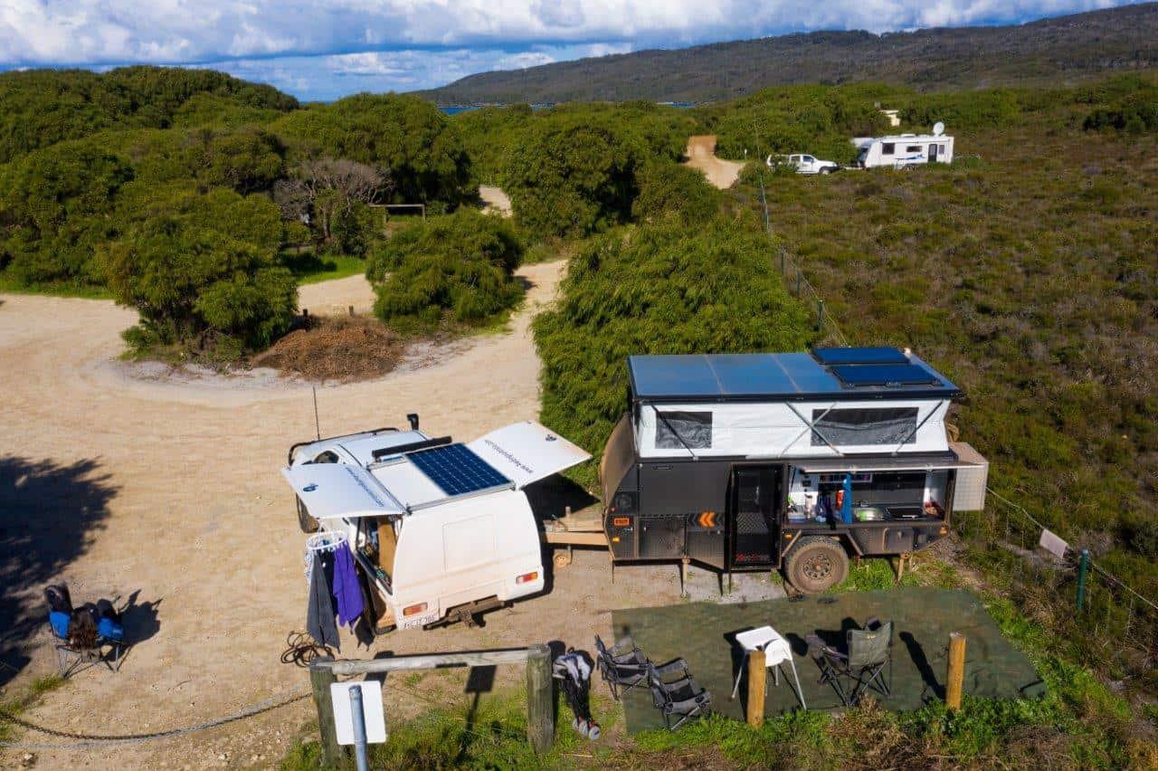 Camper roof solar
