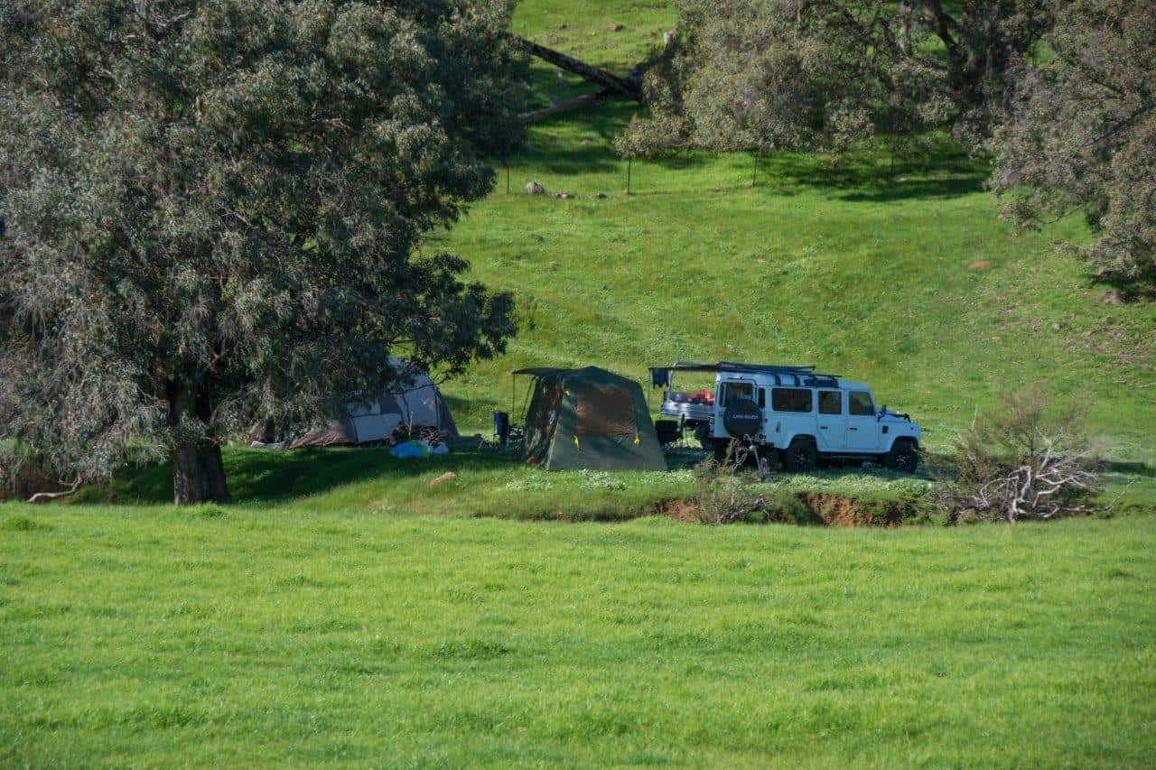 Camping close to Perth