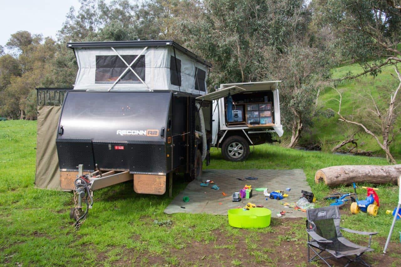 Hybrid camper trailer