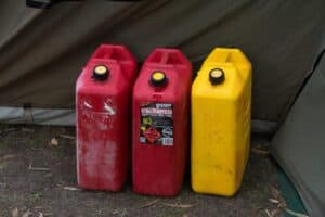 Jerry cans of fuel