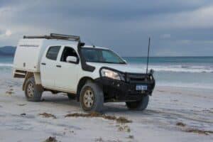 Dmax beach driving