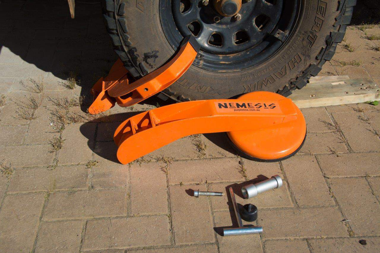 Wheel Clamp on a Caravan