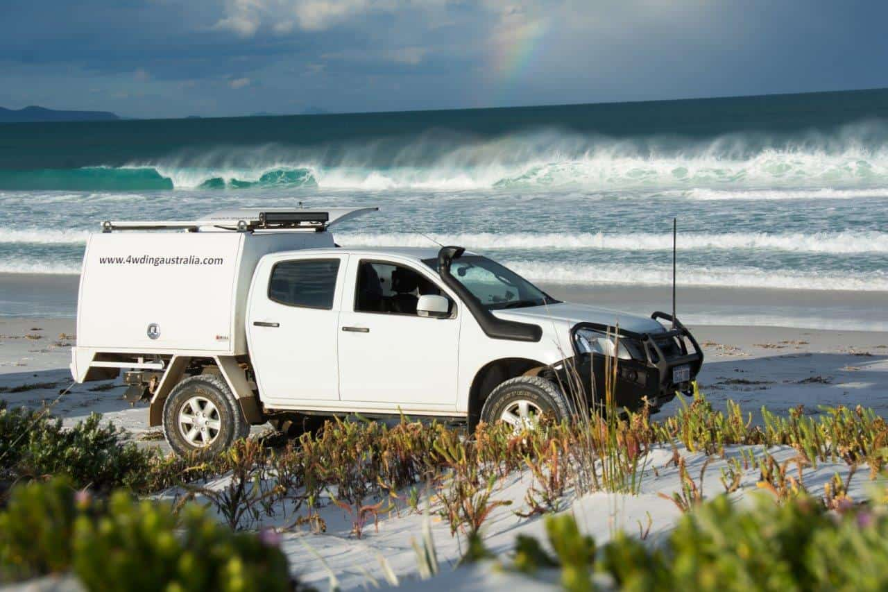 Isuzu Dmax on the beach