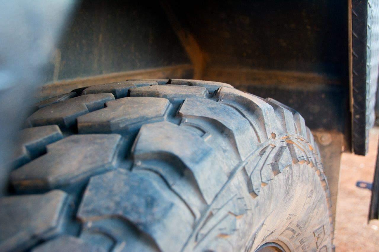 Caravan tyre wear
