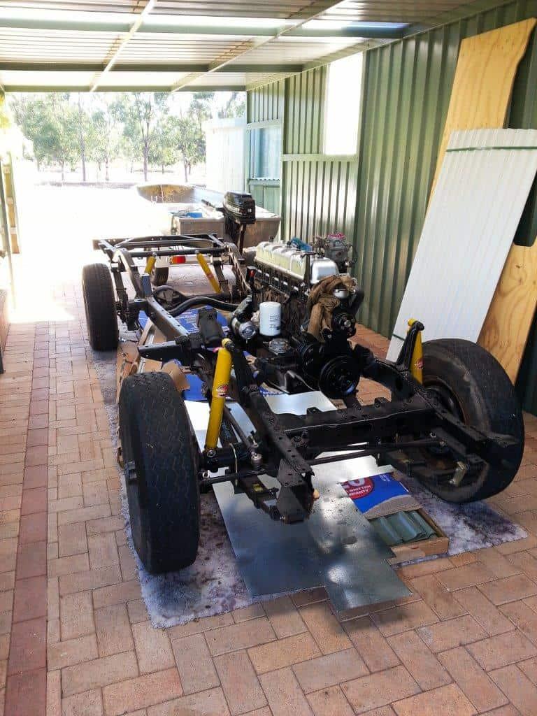 Motor back in the FJ45