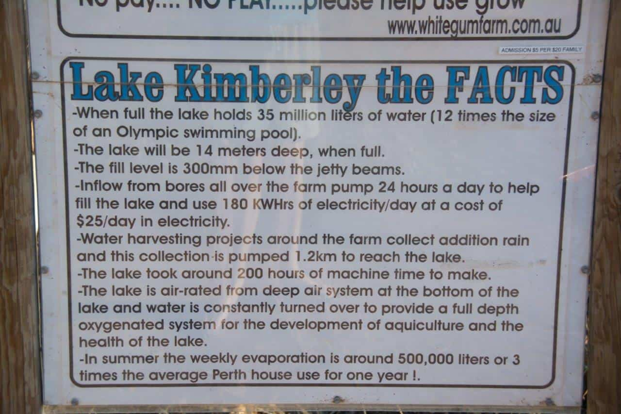 Lake Kimberley Facts