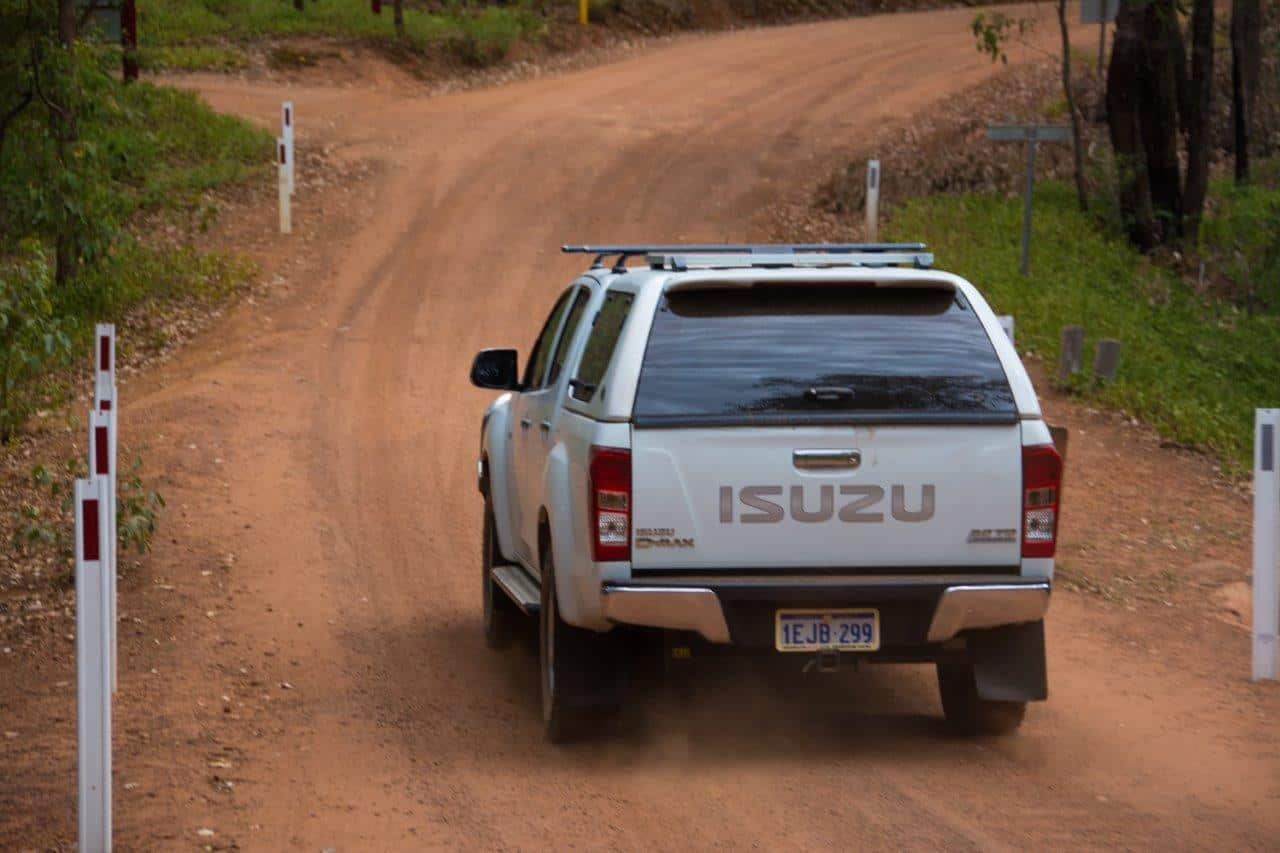 Engage 4WD on the gravel