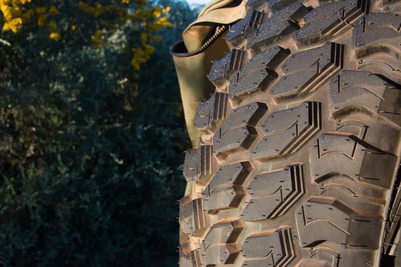 Brand new tyre wear