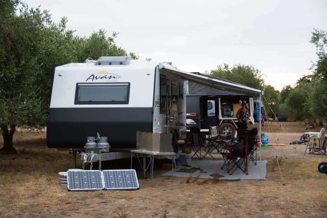 Caravan setup