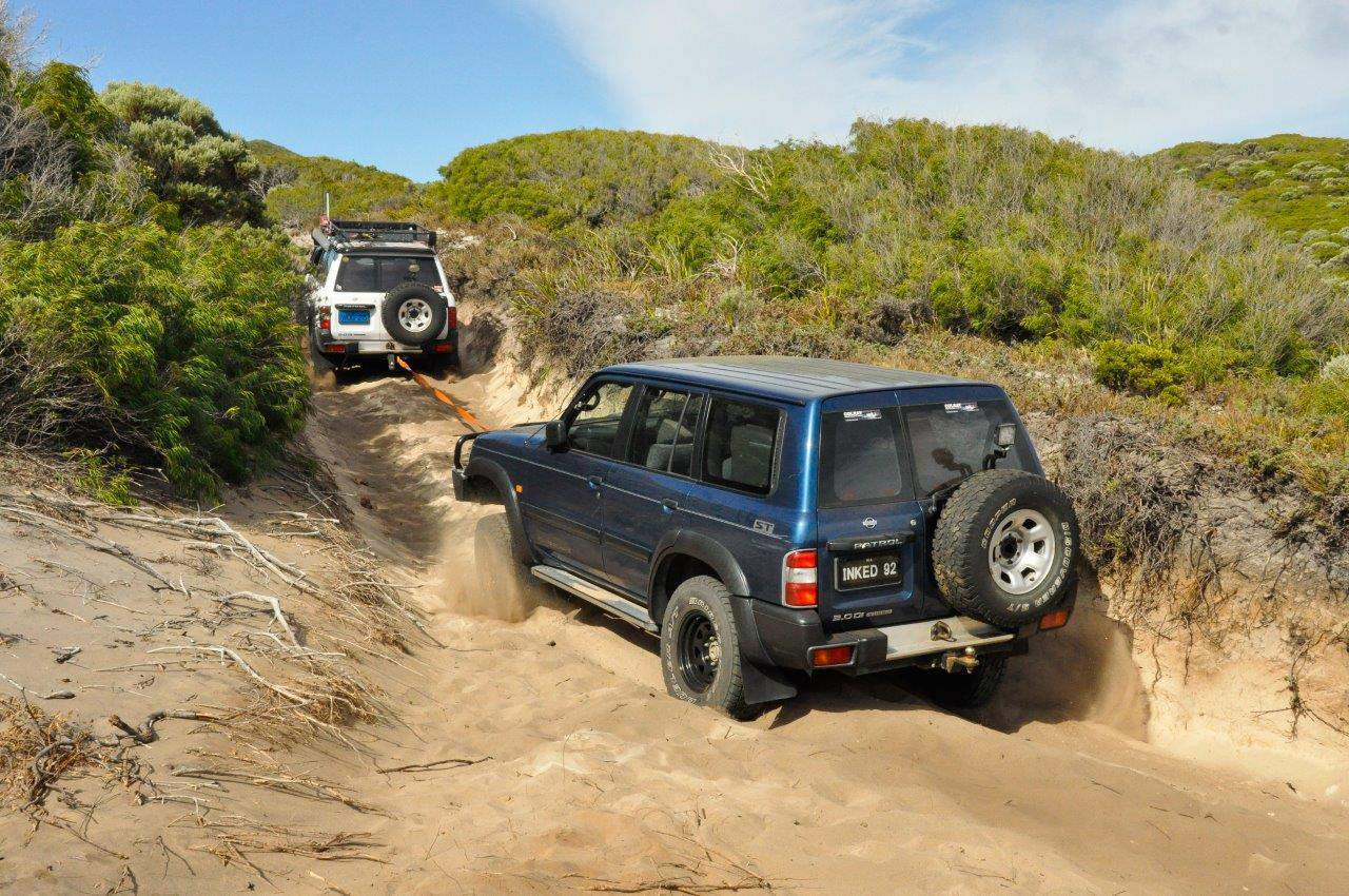 Albany 4WD Tracks and tyre pressures