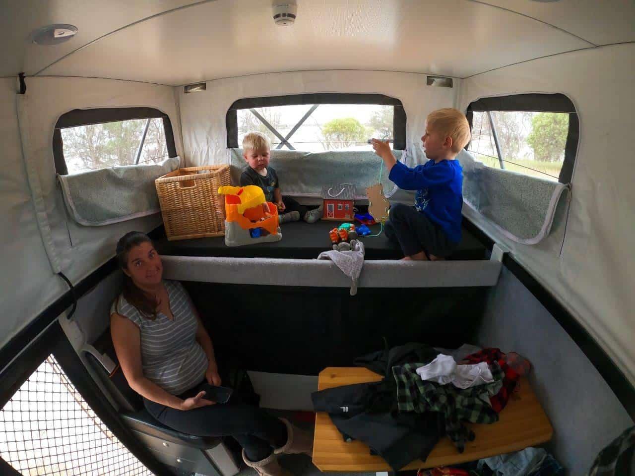 Hybrid Camper bunks