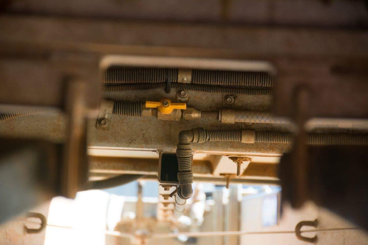 Hybrid plumbing underneath