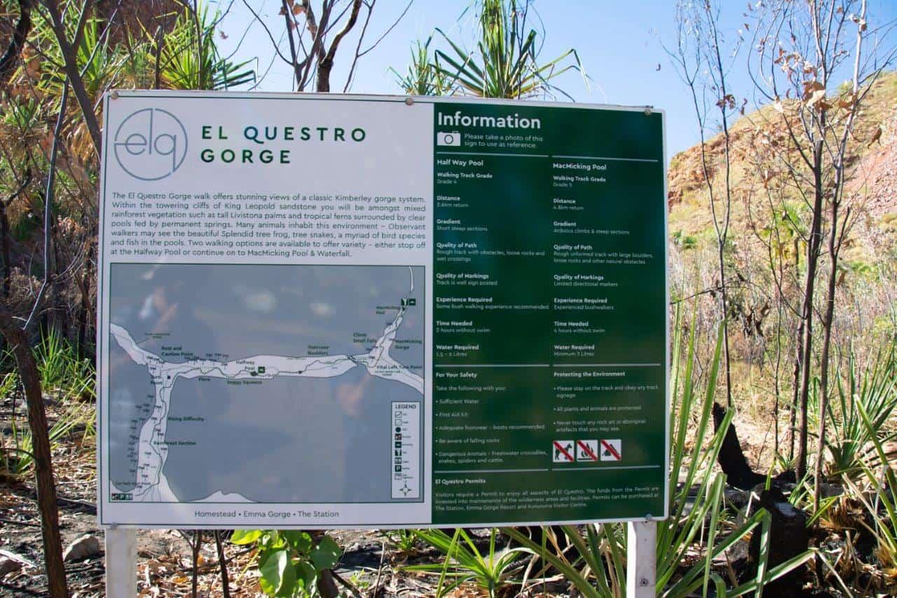El Questro Gorge sign