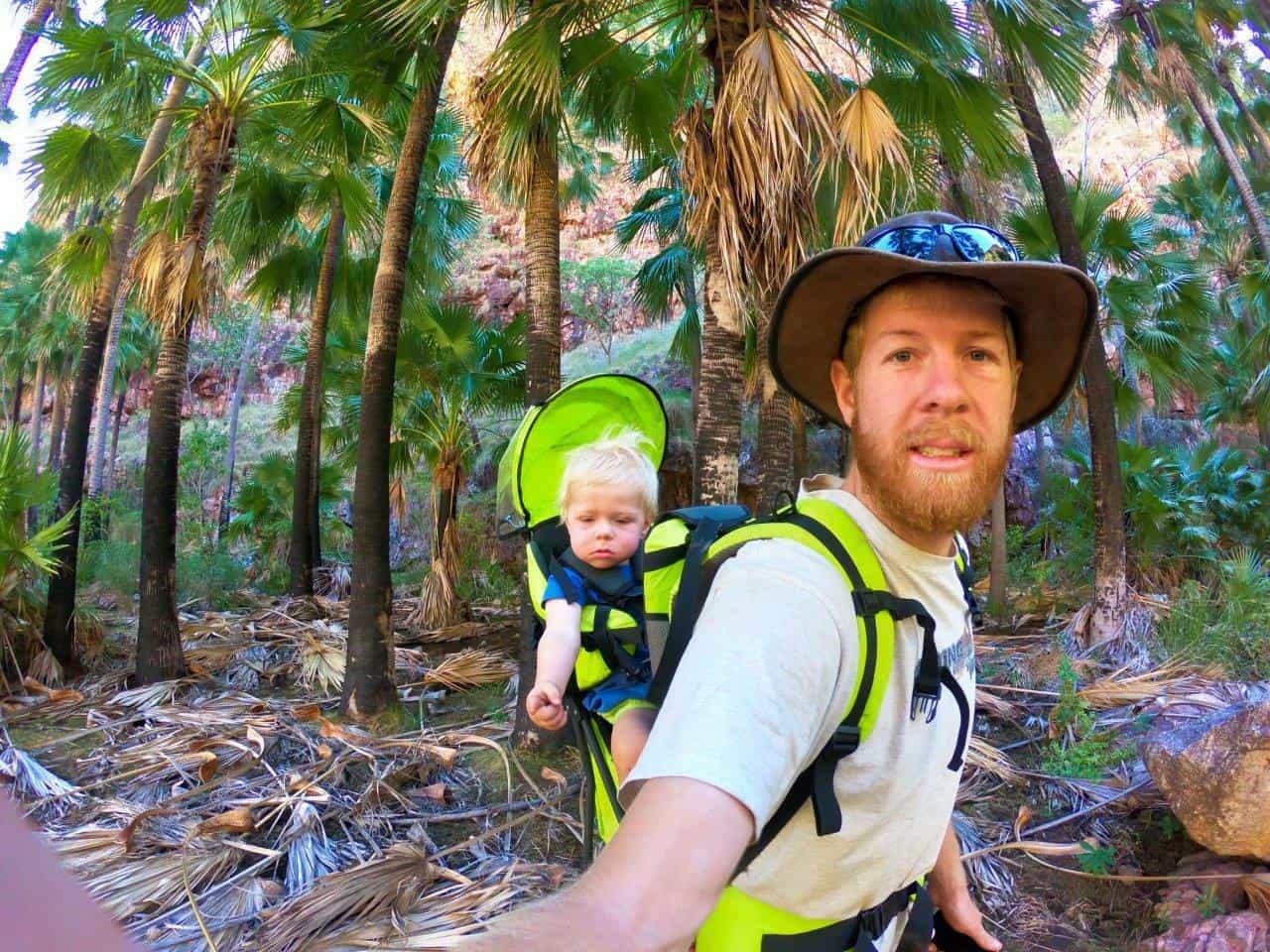 El Questro Gorge with a toddler