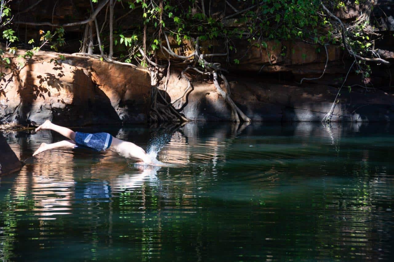 Swimming at Galvans