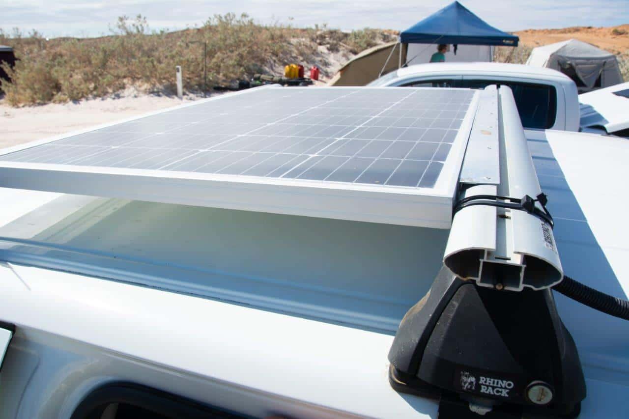 Solar on the roof racks