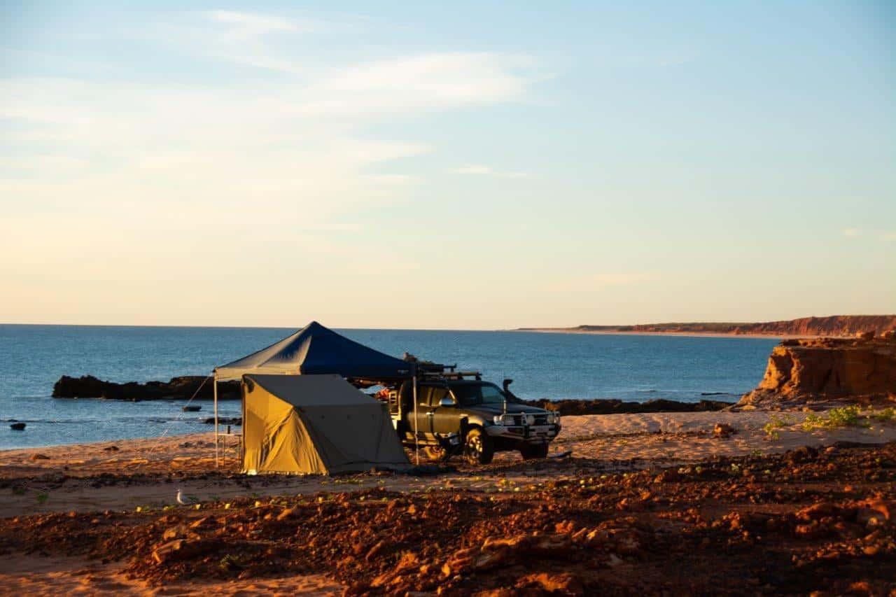 Beach camping at James Price