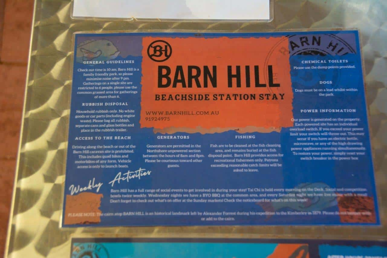 Barn Hill rules and information