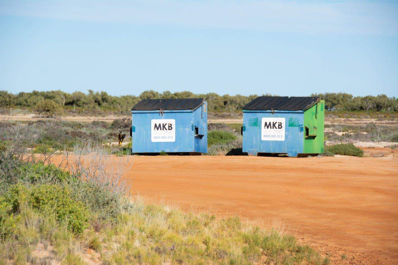 Rubbish Bins at Bush Bay