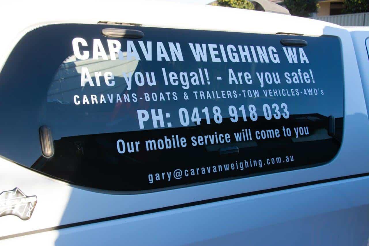 Caravan Weighing WA
